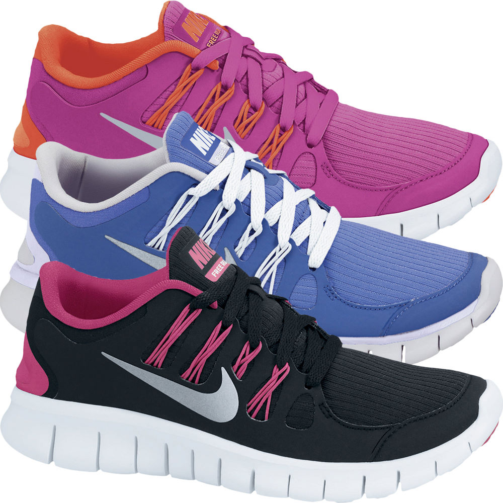 Wiggle | Nike Girls Free Run 5 (GS) Shoes | Cushion ...