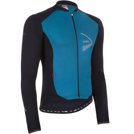 DHB Windlam long sleeve jersey in blue