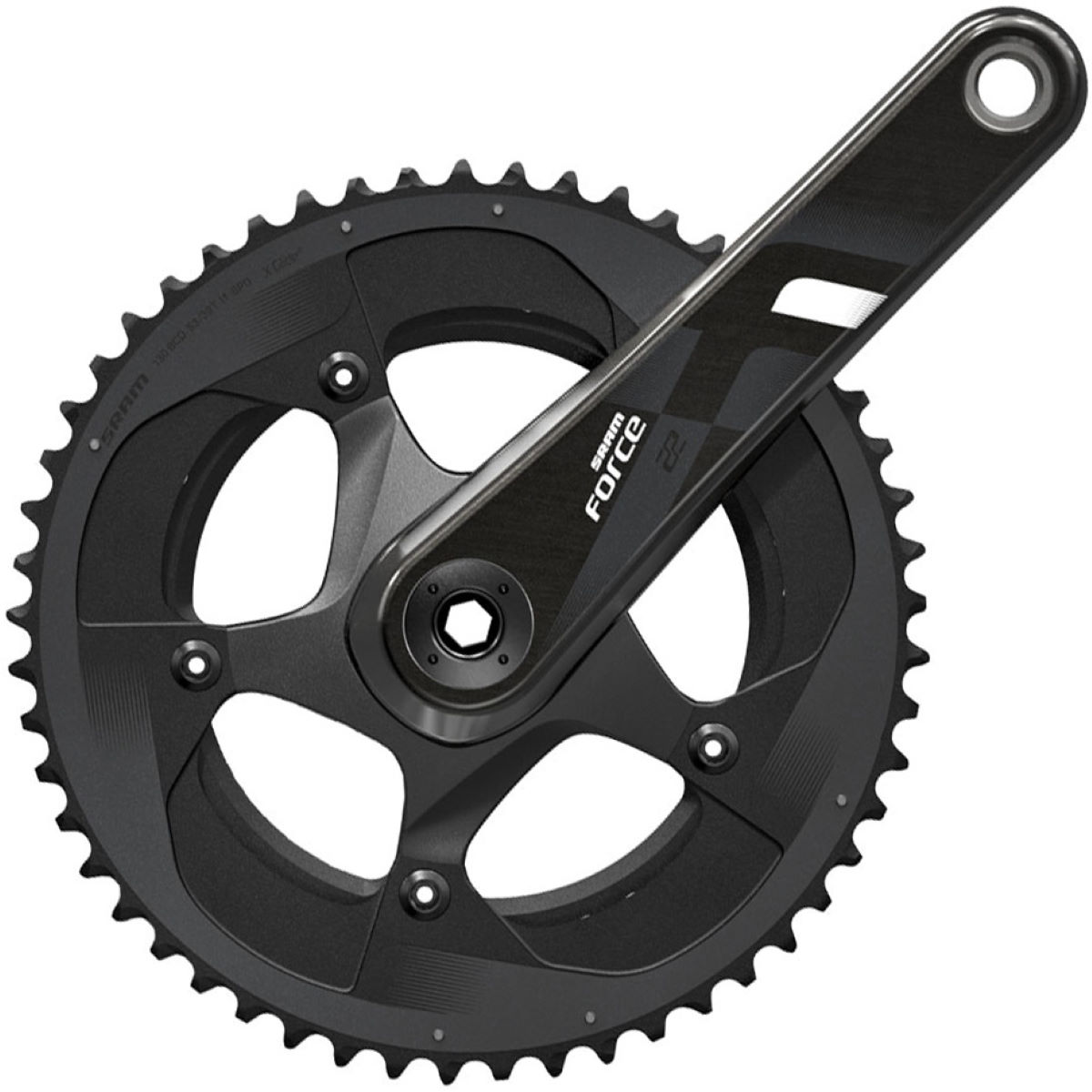 Sram Force 22 Gxp Compact Chainset - 53.39t 170mm Black/grey