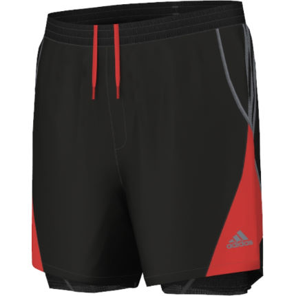 adidas 2 layer shorts