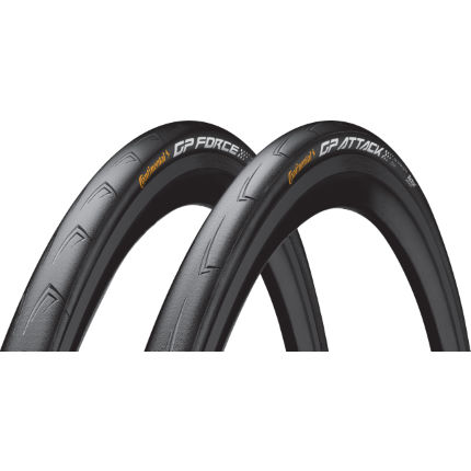 Continental GP Force and Attack III Folding Tyre Set