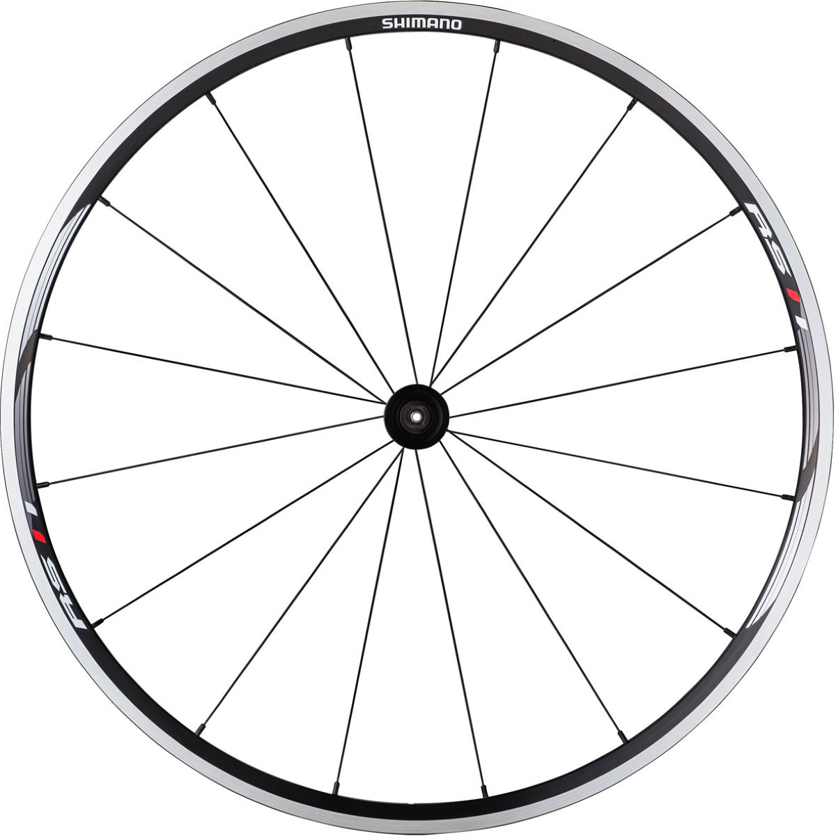 Shimano rs11 clincher front wheel black