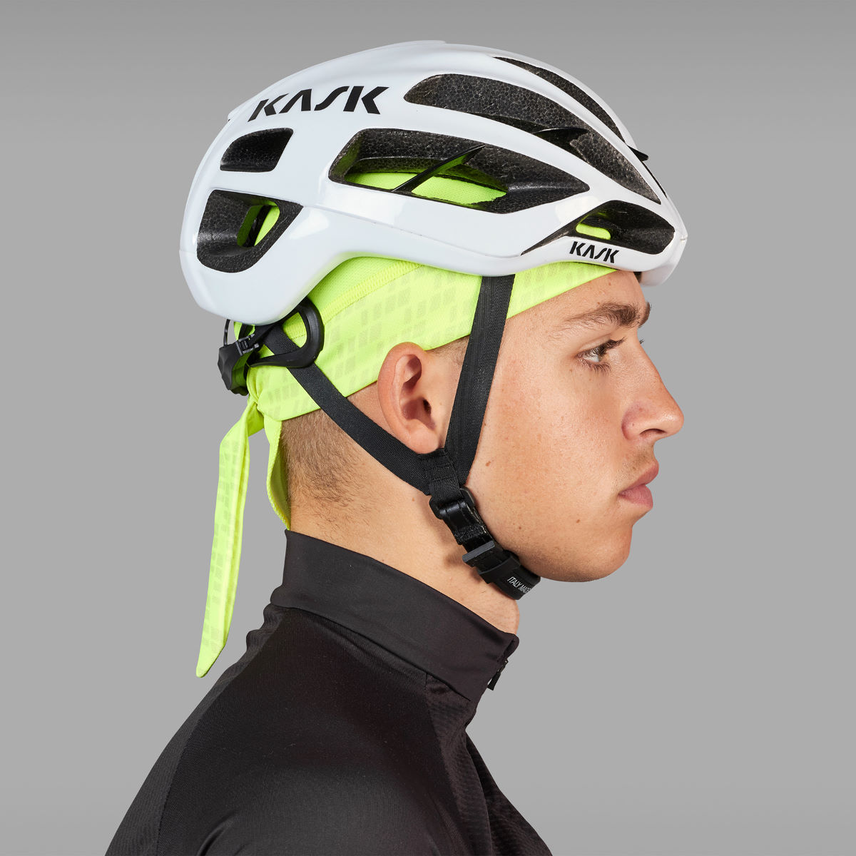 Image of Bandana GripGrab - 0 Yellow Hi-Vis | Bonnets sous casque