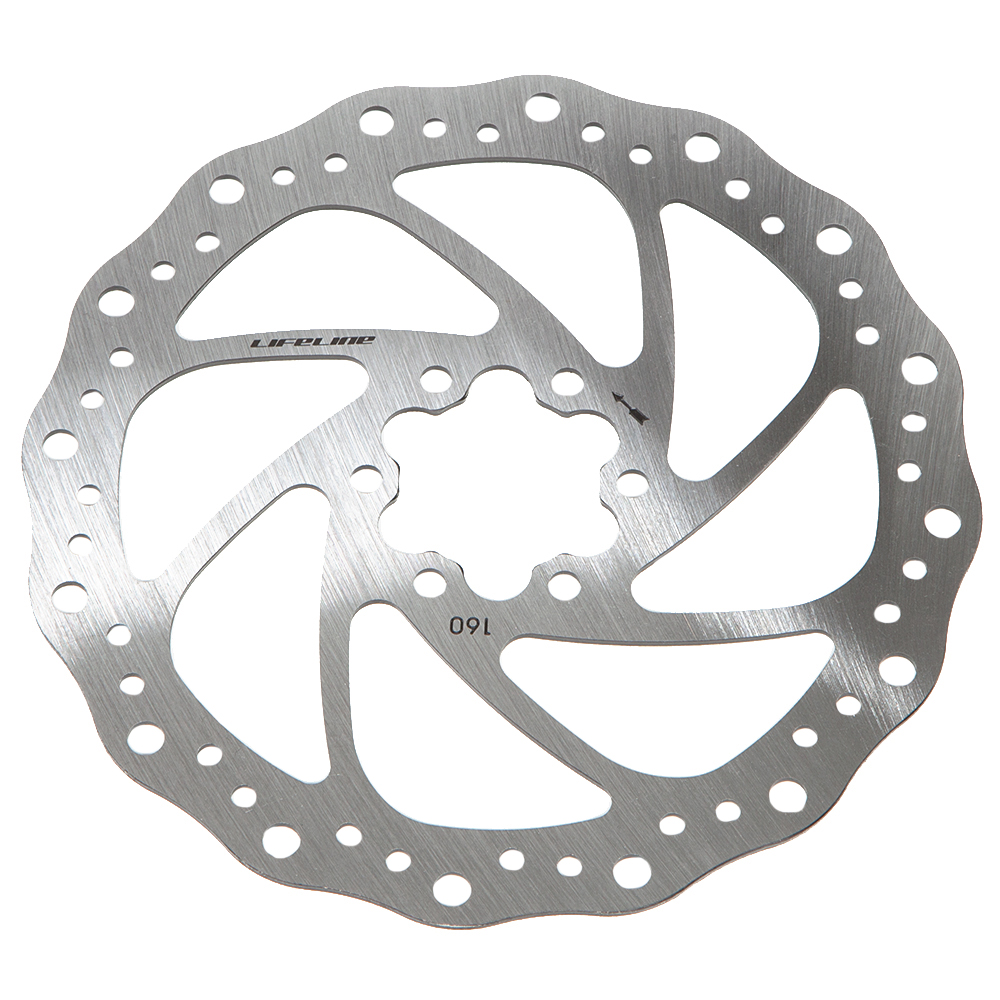 LifeLine One Piece Stainless Disc Rotor - 160mm | Brake pads