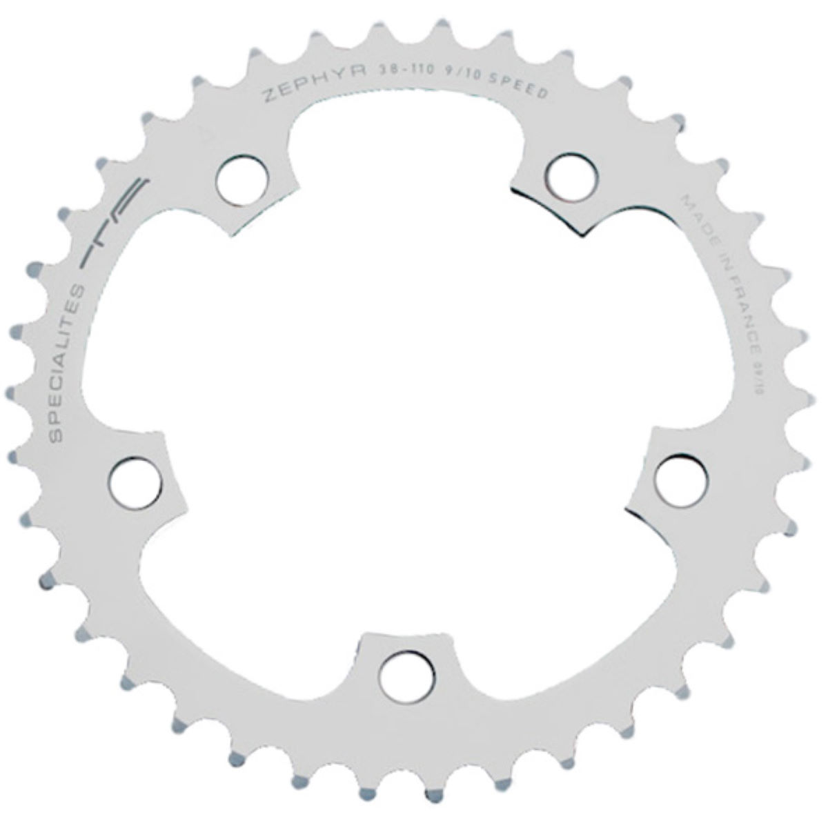 TA TA 110 PCD Zephyr Middle Road Chainring 40-44T   Chain Rings