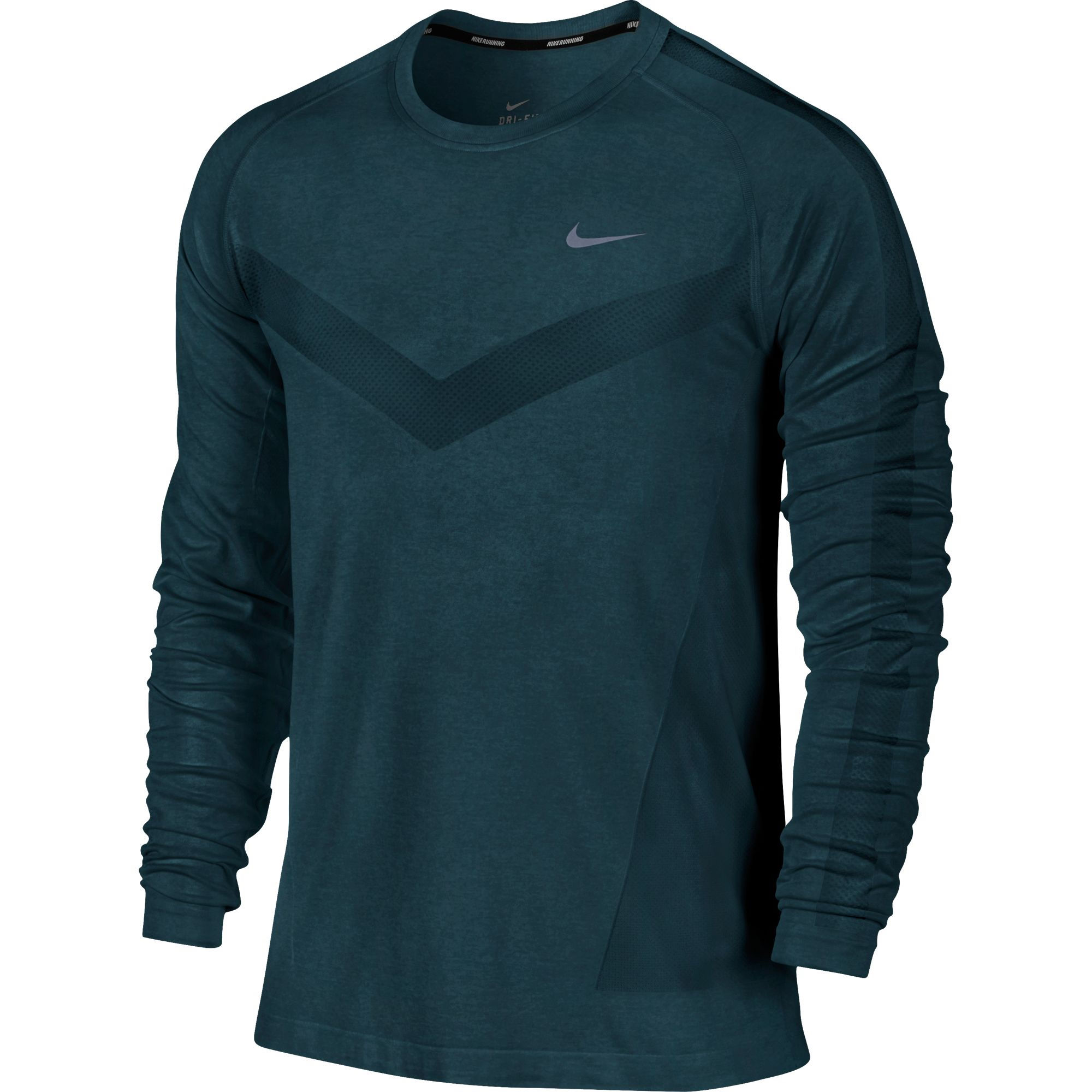 wiggle nike dri fit knit long sleeve sp14 long sleeve running tops. Black Bedroom Furniture Sets. Home Design Ideas