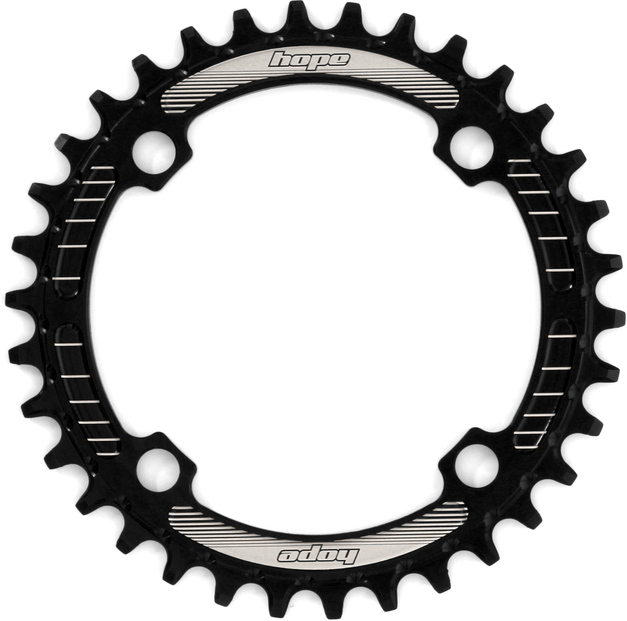 Details about  /Hope Spiderless Retainer Ring Chainring 36 tooth non boost Silver Brand New