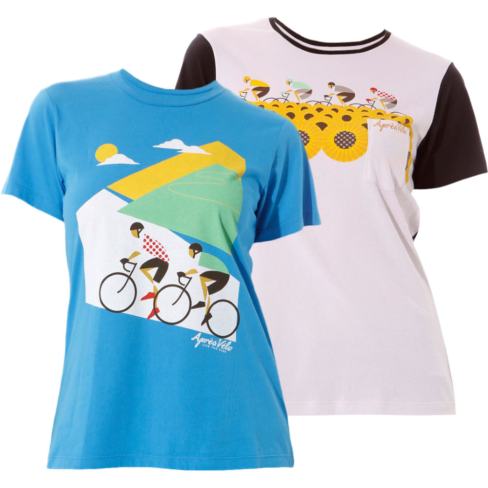 t shirts apres velo ladies alpe d 39 huez and sunflowers. Black Bedroom Furniture Sets. Home Design Ideas