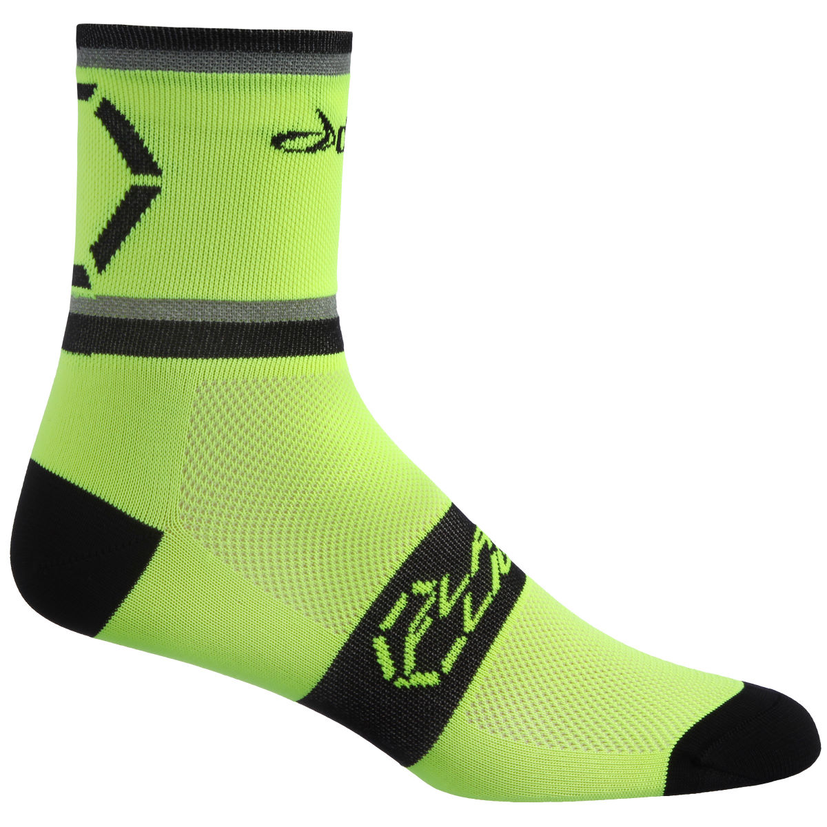 Dhb flashlight socks cycling socks fluro aw16 nu0450