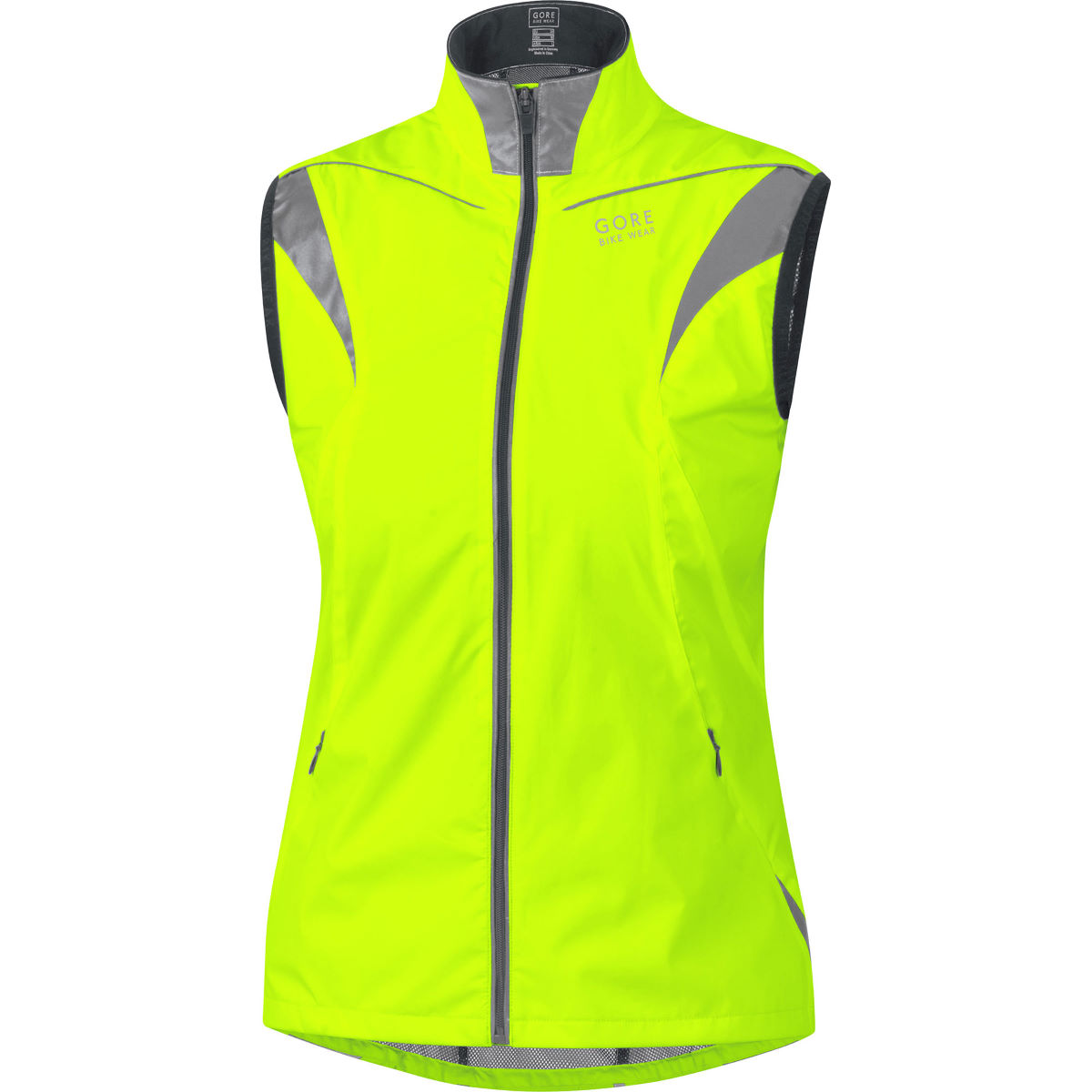 Gore bike wear women s visibility active shell vest cycling gilets neon yellow aw15