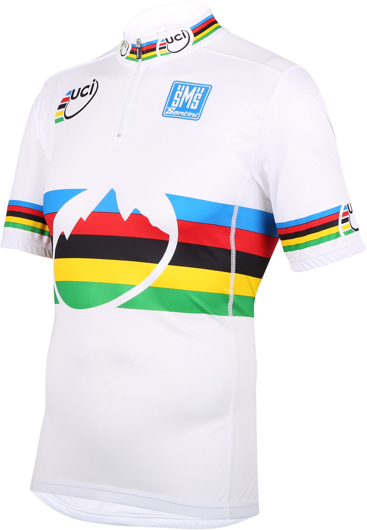 UCI Rainbow Story T-Shirt in Red By Santini