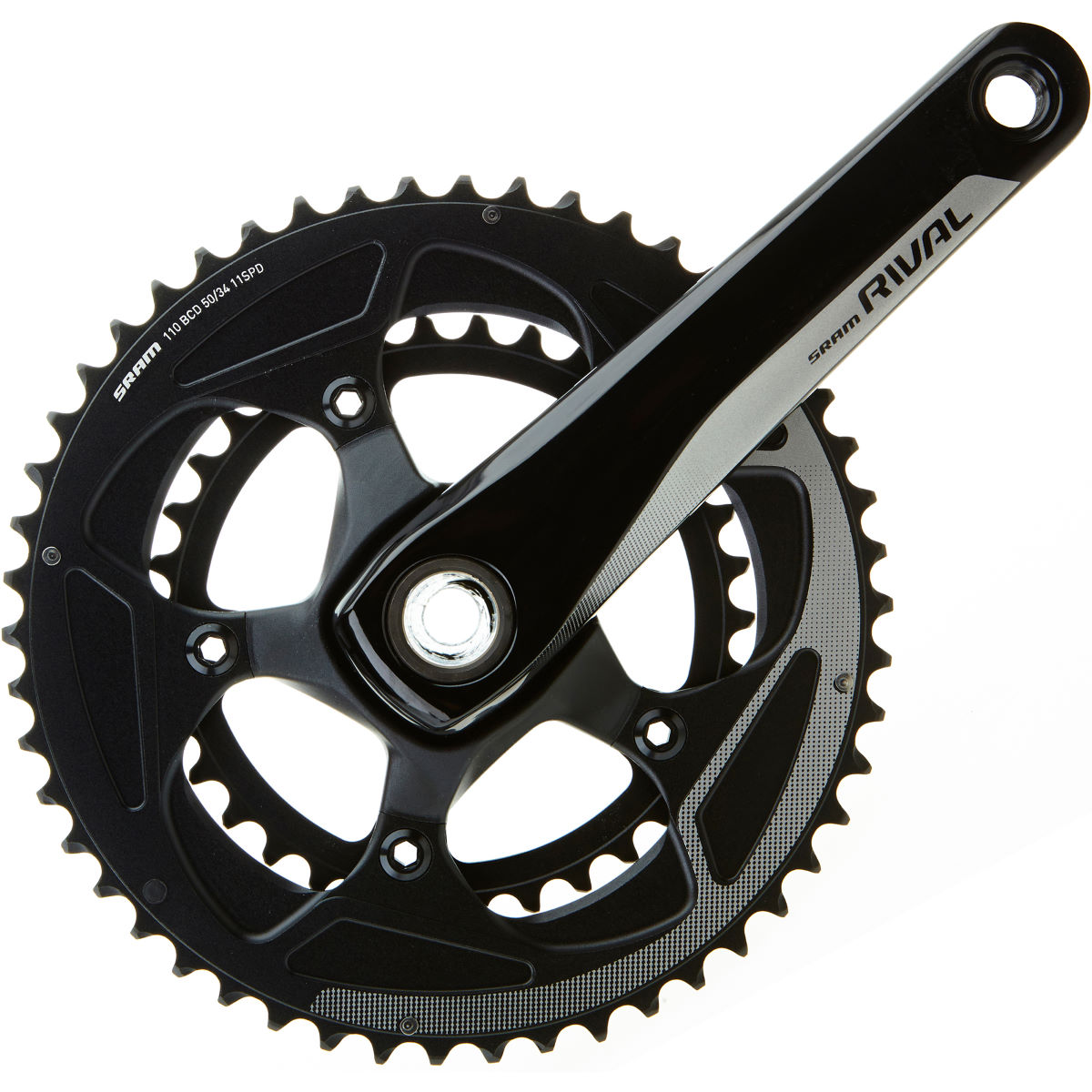 Sram Rival 22 Gxp Compact Chainset (11 Speed) - 52.36t 170mm Black