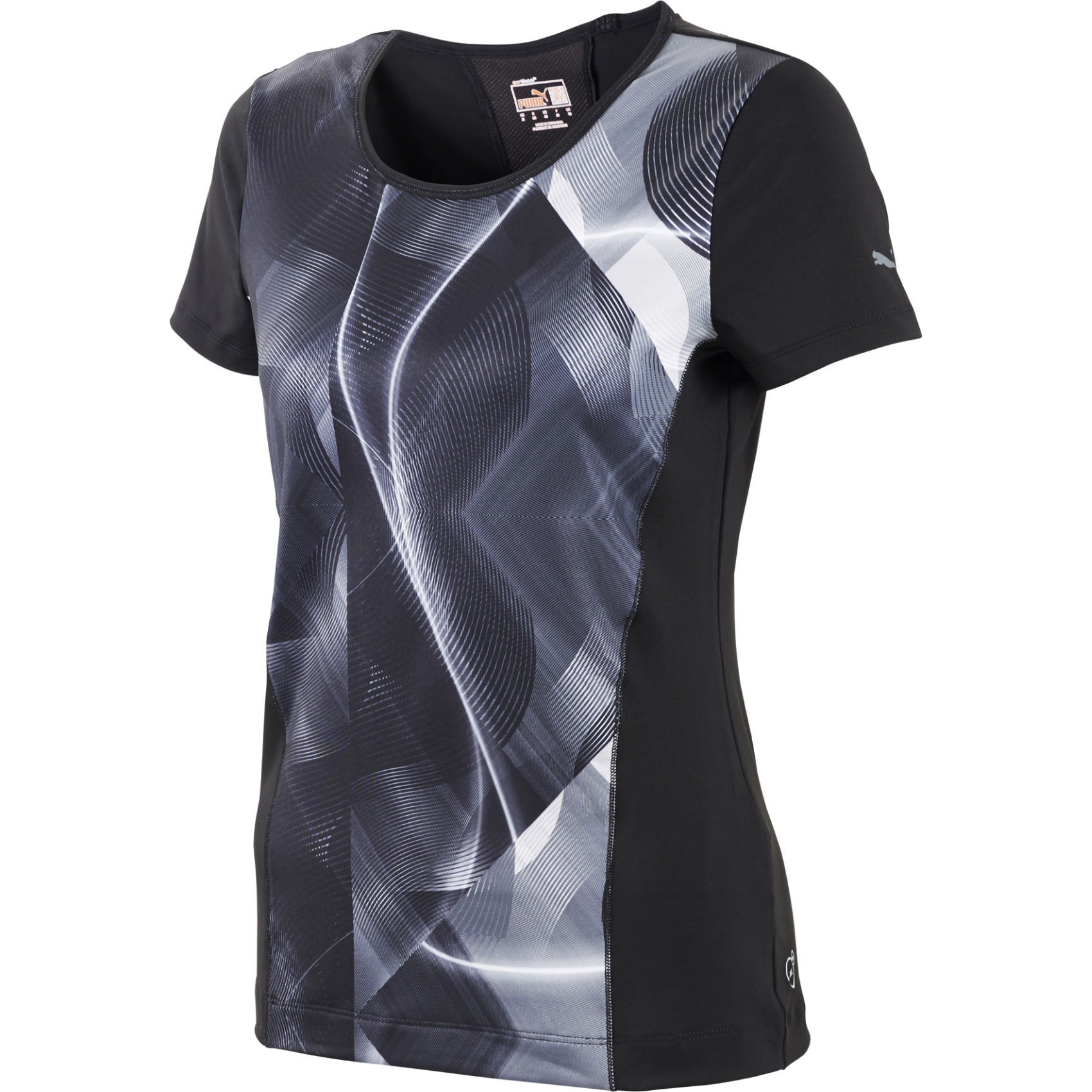 maillots de running manches courtes puma women 39 s fitness graphic t shirt aw14 wiggle. Black Bedroom Furniture Sets. Home Design Ideas