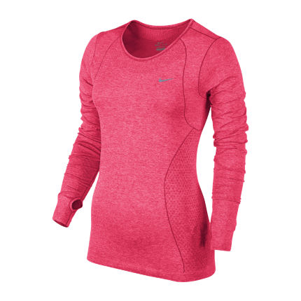 2ab51ea4 View in 360° 360° Play video. 1. /. 1. The Nike Dri-FIT Knit long-sleeve  women's running shirt ...