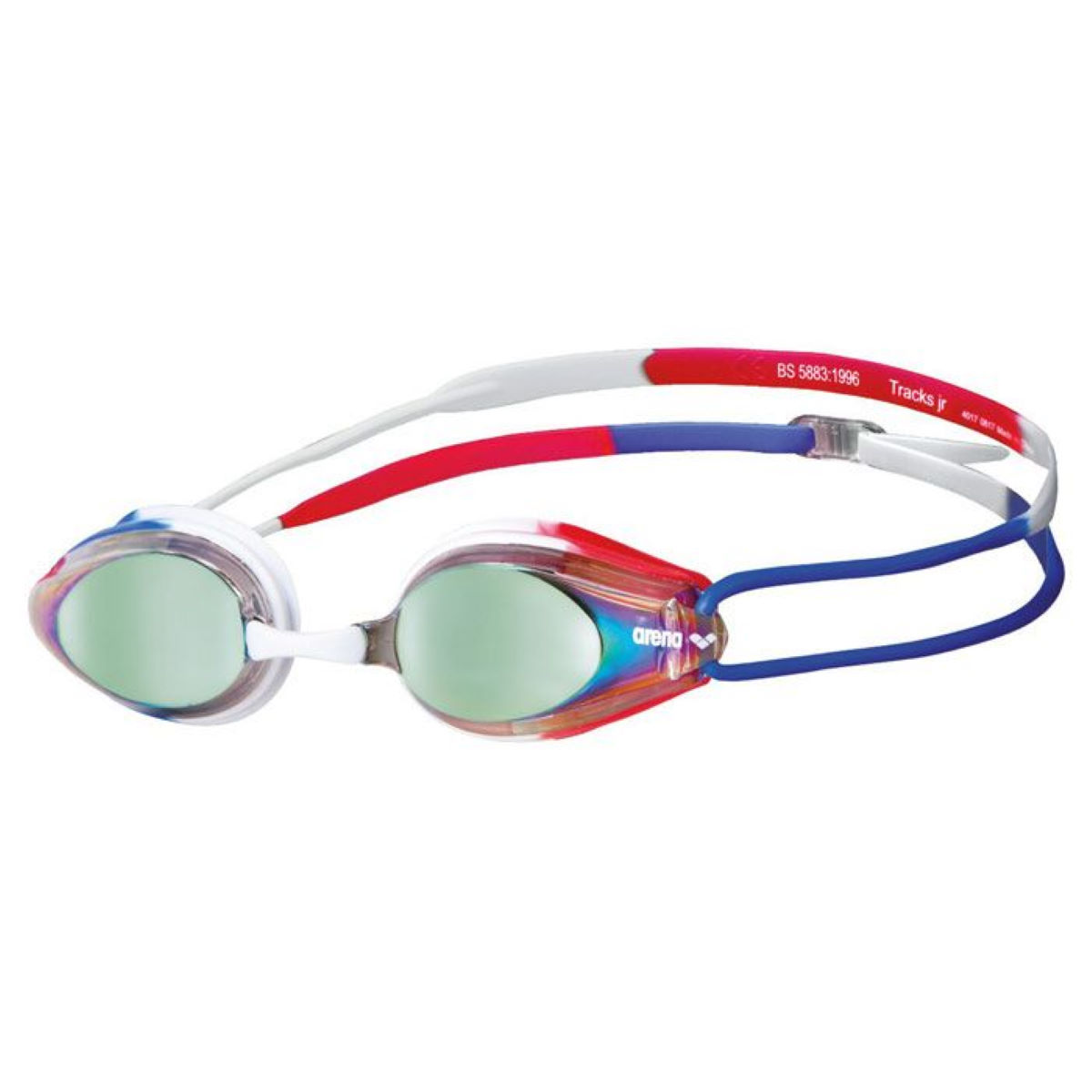 Arena Tracks Mirror Goggles - One Size Gold/blue/red  Goggles