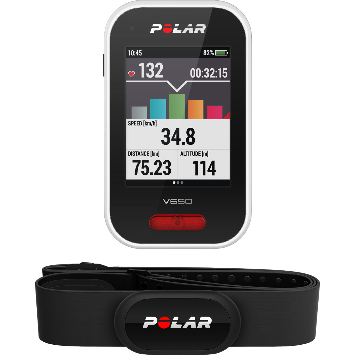 Polar v650 cycling gps computer with hrm gps cycle computers black 90050536