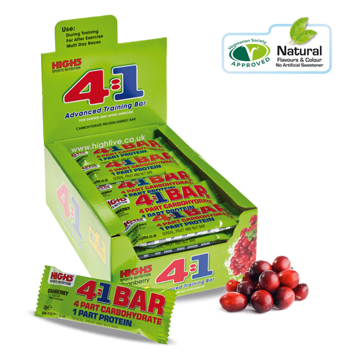High5 4:1 Training Bar 25 x 50g Pack