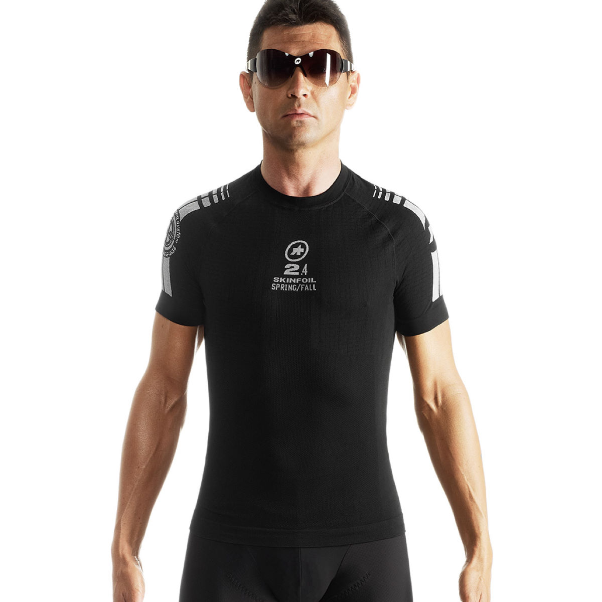 Assos new ss skinfoil spring fall s7 base layer base layers black ss15 ave416bk0