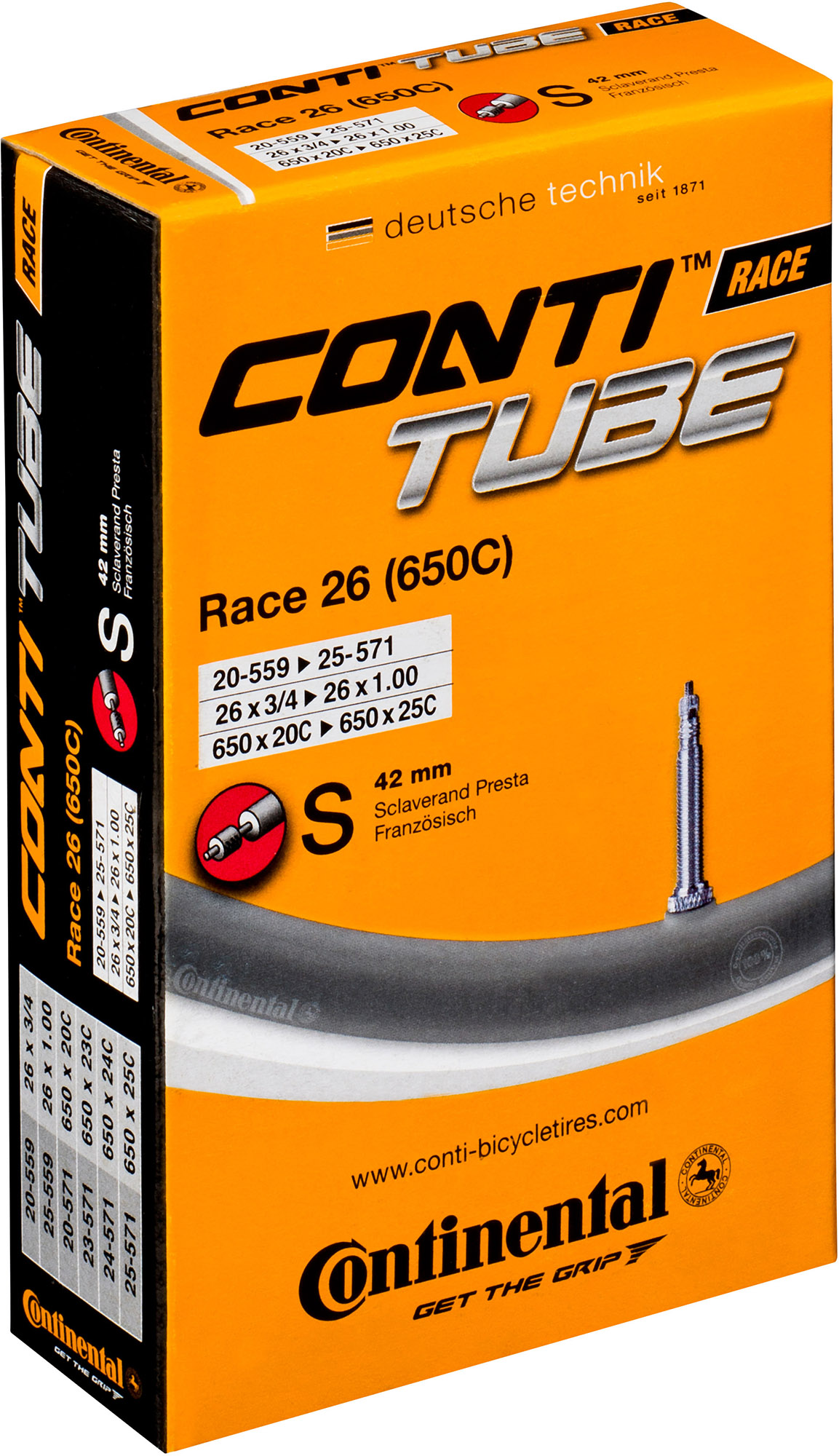 Continental 650c Quality Road Inner Tube | Tubes