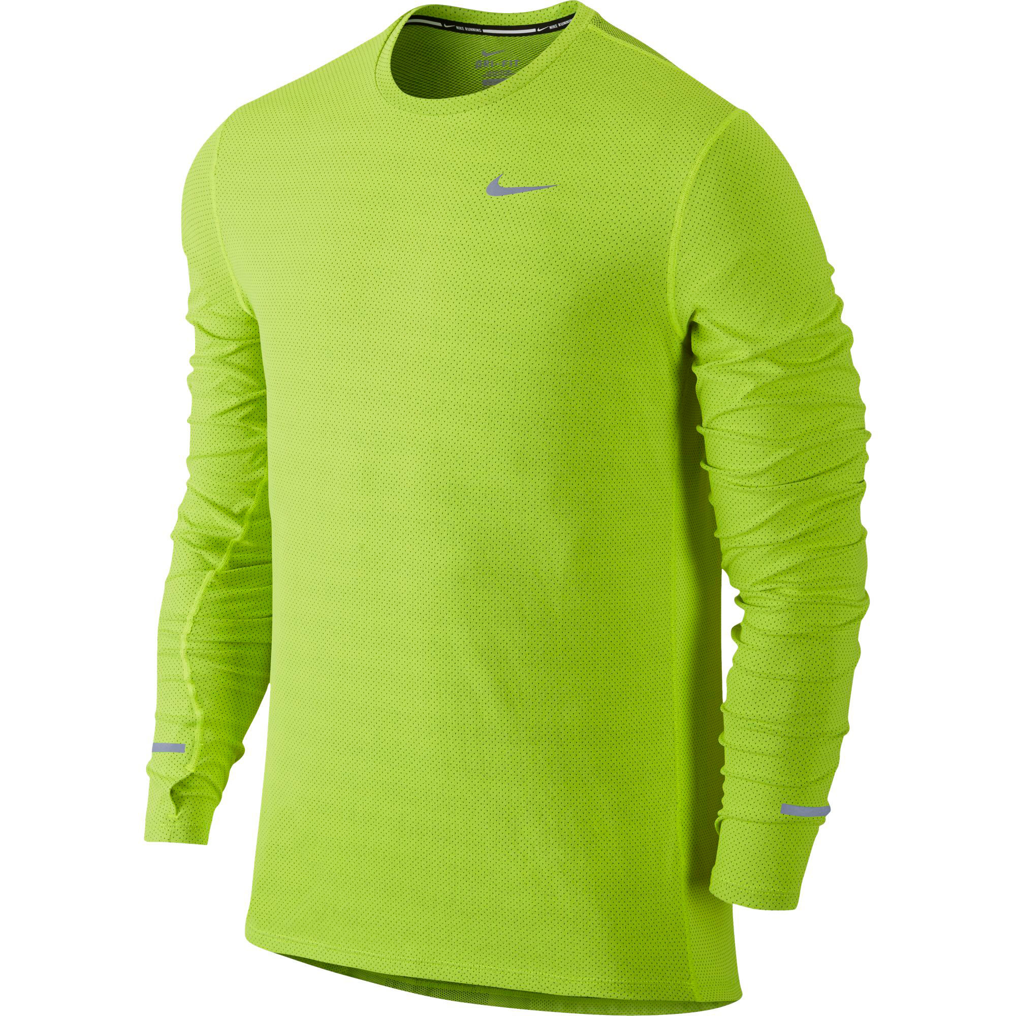 wiggle nike dri fit contour long sleeve fa15 long sleeve running tops. Black Bedroom Furniture Sets. Home Design Ideas