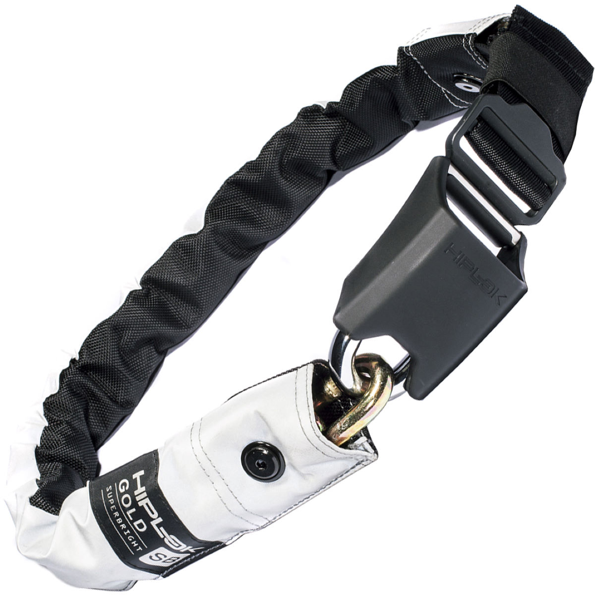 Hiplok Gold Wearable Bicycle Chain Lock - Superbright Reflecti