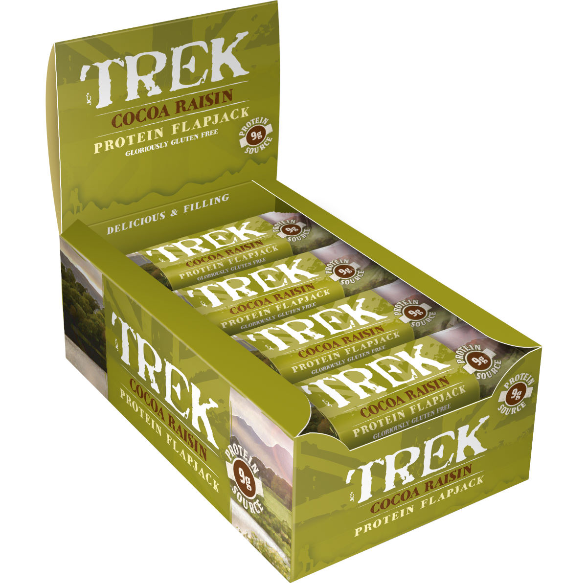 Image of Flapjacks TREK (16 x 50 g) - 16x50g 11-20 Cocoa Raisin | Barres