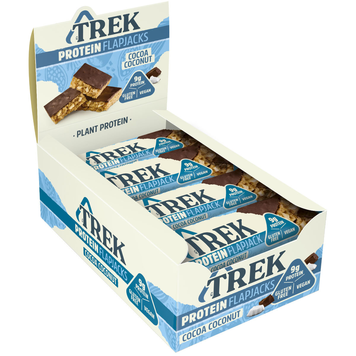 Image of Flapjacks TREK (16 x 50 g) - 16x50g 11-20 Cocoa and Coconut | Barres