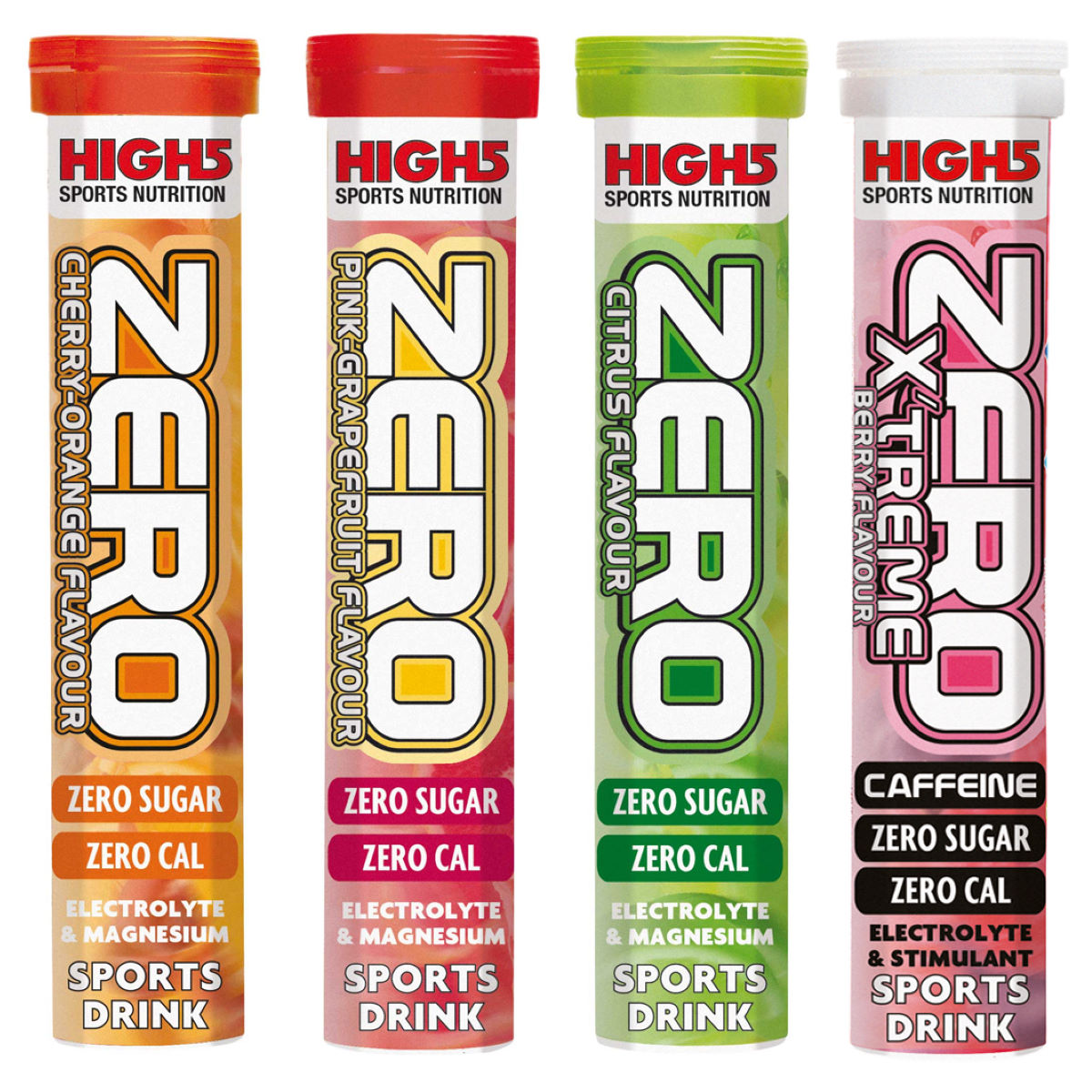 High5 Zero Electrolyte Drink 4 Pack Mixed Tube Bundle