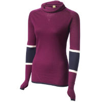 FINDRA Womens Marin Cowl Neck Stripe Top