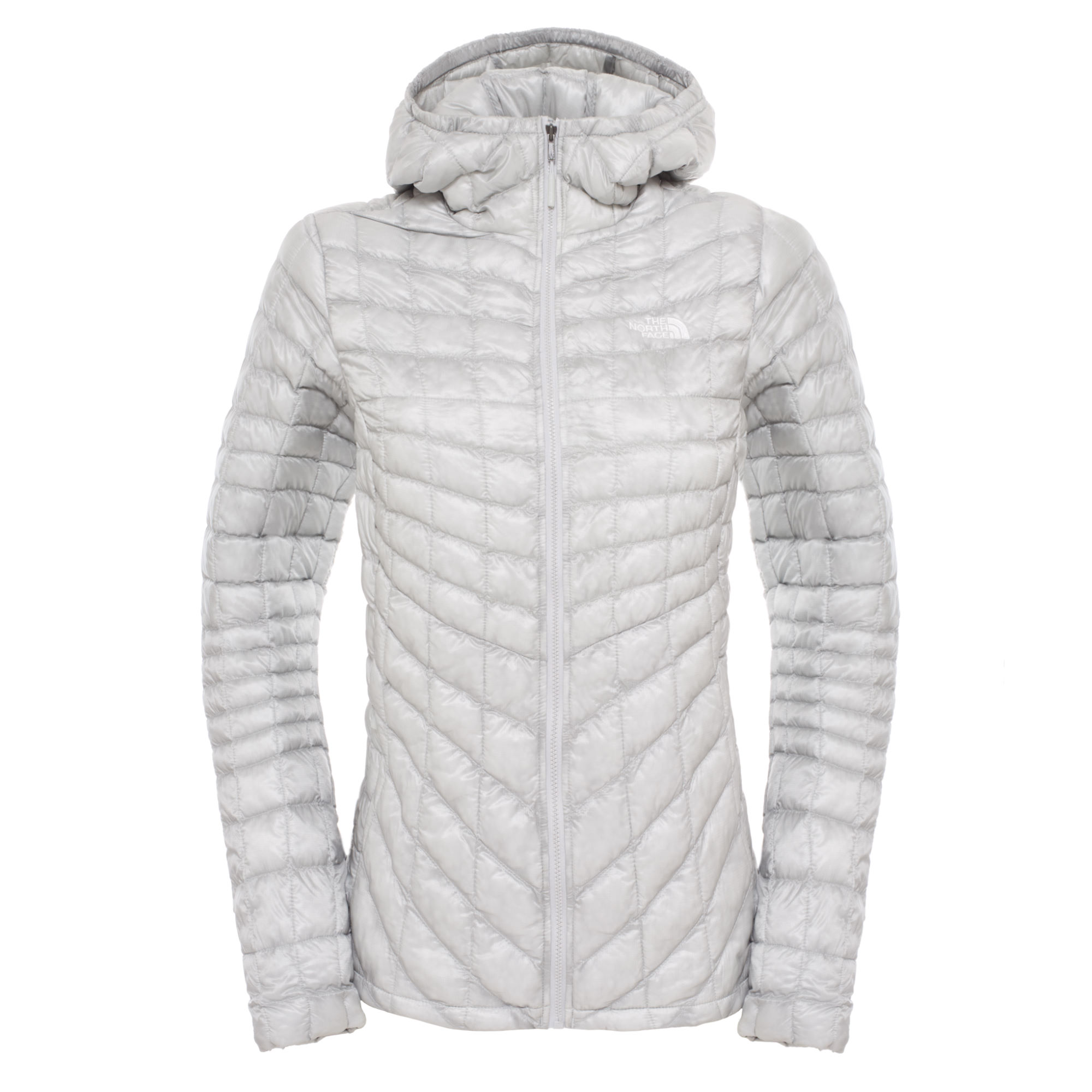 White womens north face jacket