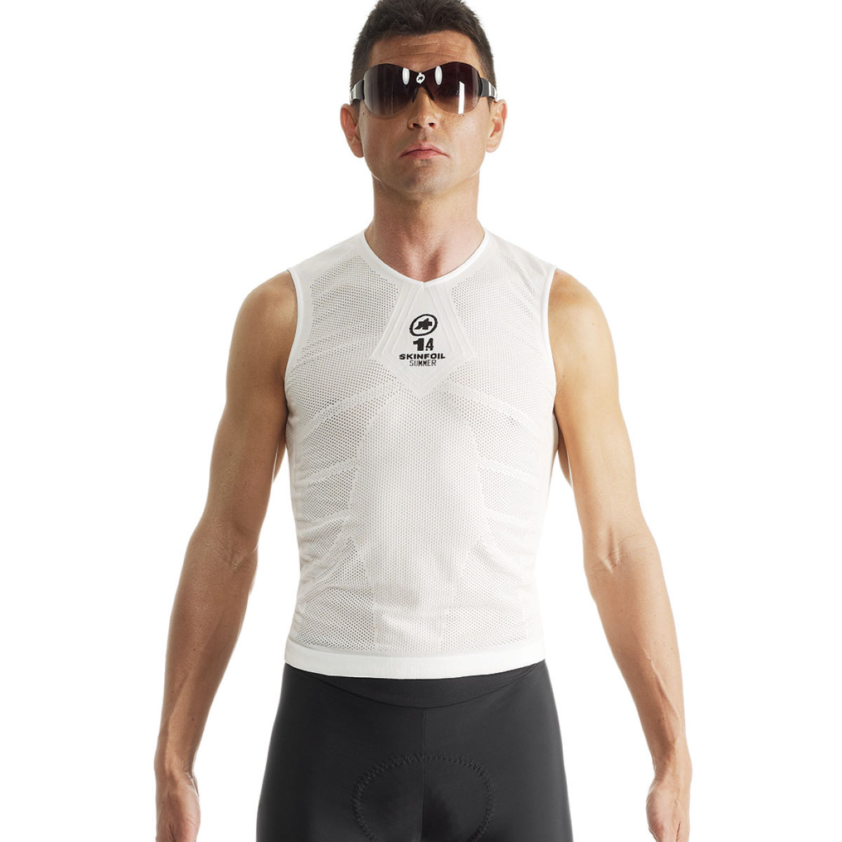 Assos ns skinfoilsummer evo7 base layer base layers holy white aw15 p13 40 414 57 0