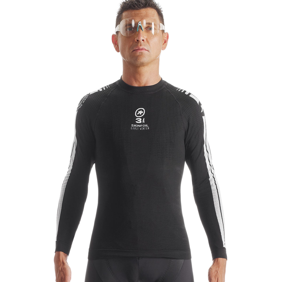 Assos ls skinfoilearlywinter evo7 base layer base layers blok black aw15 p13 40 418 15 0 5