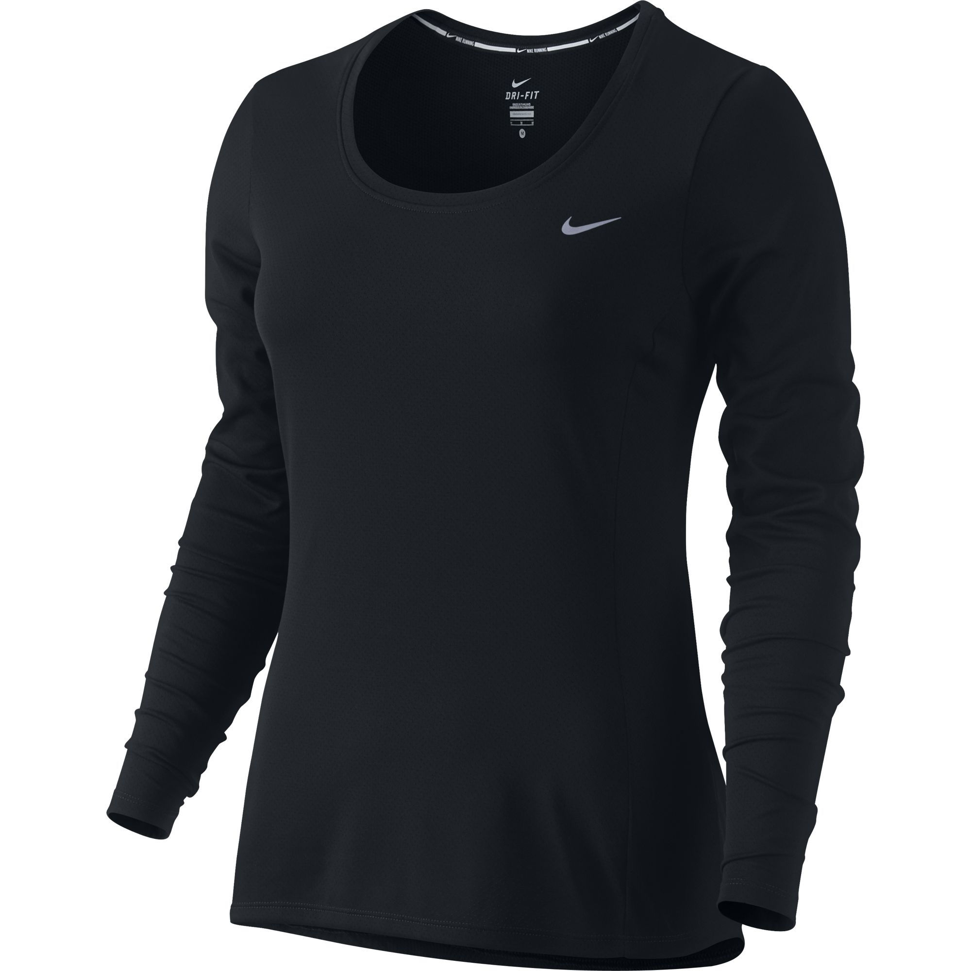 wiggle nike women 39 s dri fit contour long sleeve ho15 long sleeve running tops. Black Bedroom Furniture Sets. Home Design Ideas