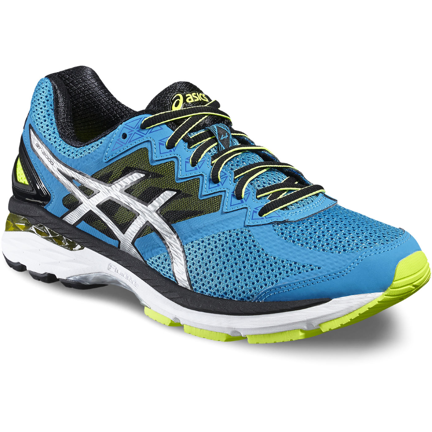 Blue And Yello Asics Shoes