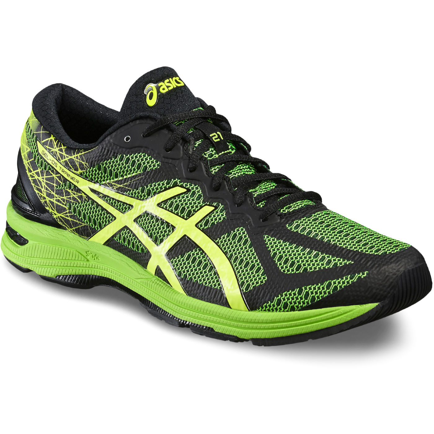 83552912794 ... Asics Gel DS Trainer 21 Shoes AW16 Racing Running Shoes Black Safety  Yellow