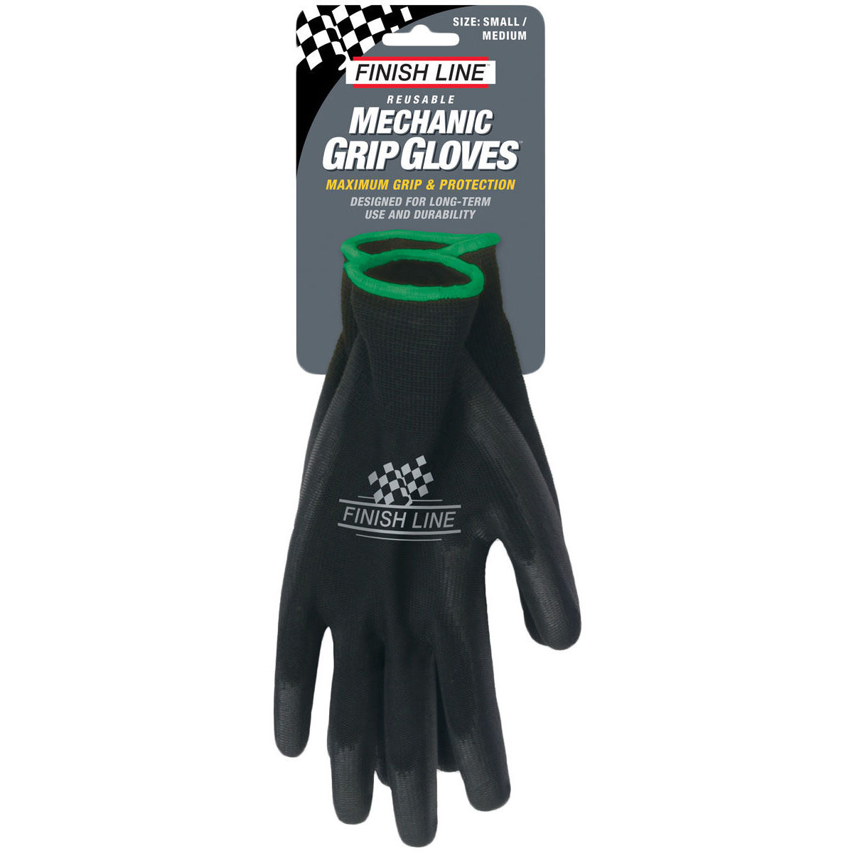 Finish Line Finish Line Mechanic Grip Gloves   Disposable Gloves