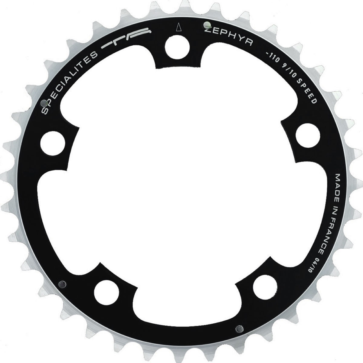 TA TA 110 PCD Zephyr Middle Road Chainring 34-39T   Chain Rings