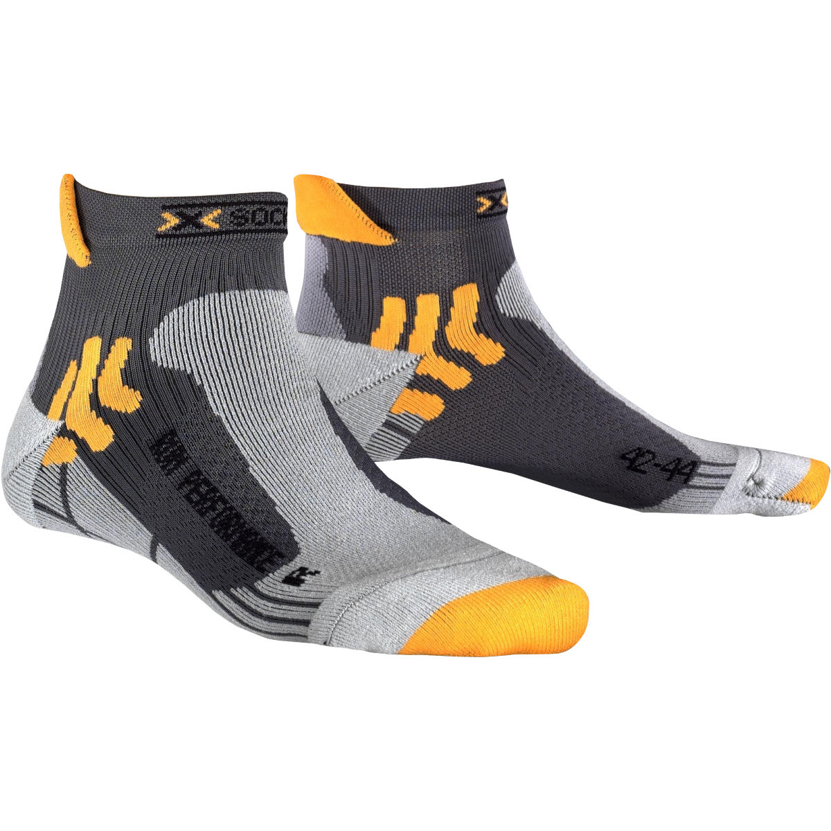X socks run performance socks running socks anthracite x20039 x03
