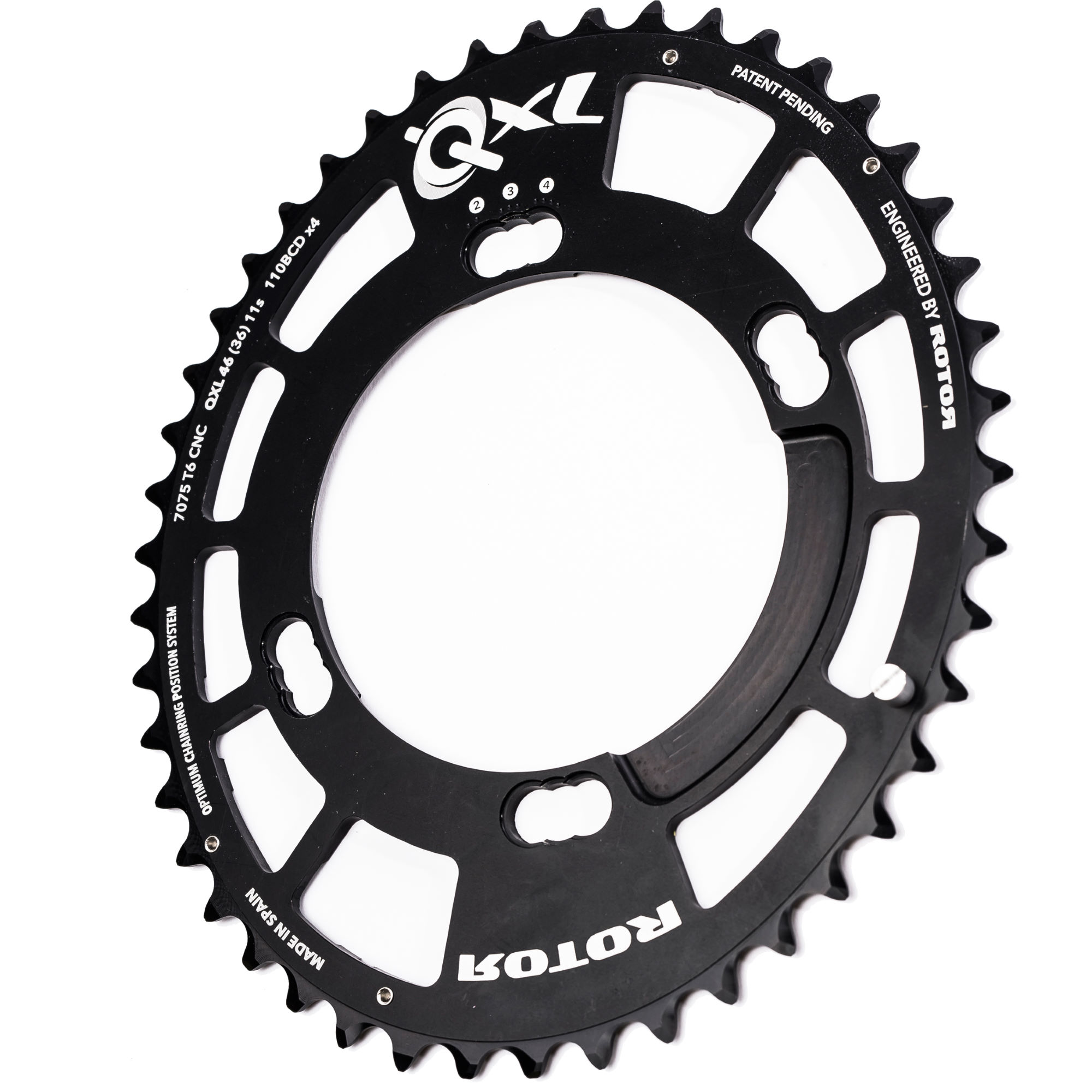 Wiggle Rotor Qxl Chainring Outer 46 Tooth Shimano