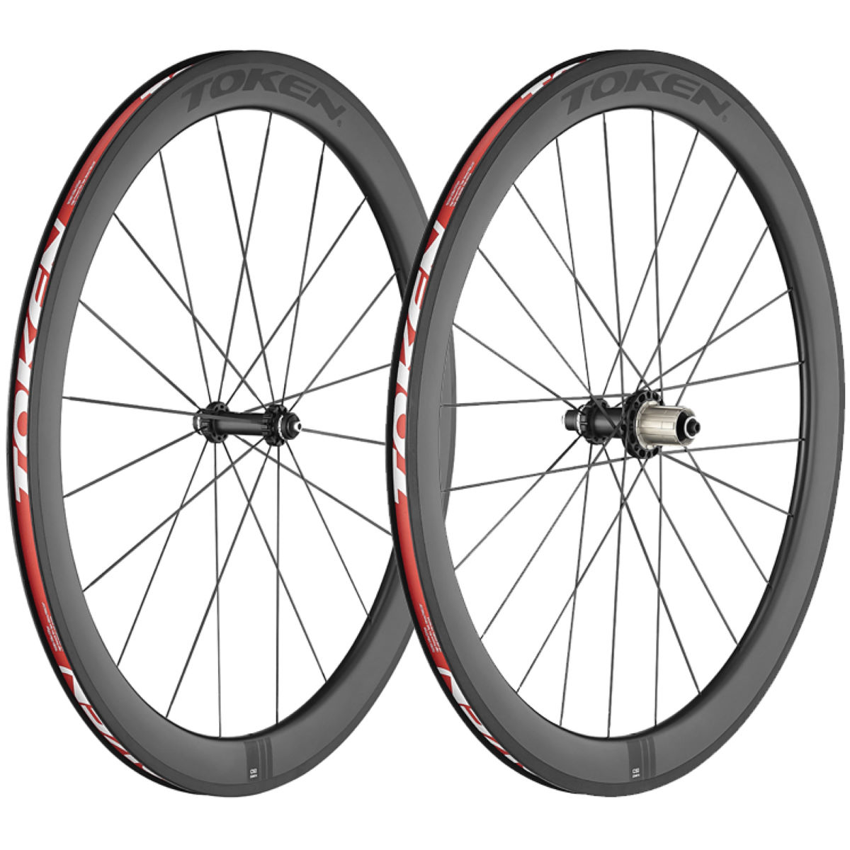 Token C50 Full Carbon wheelset (carbon, for deck) - Competition wheels