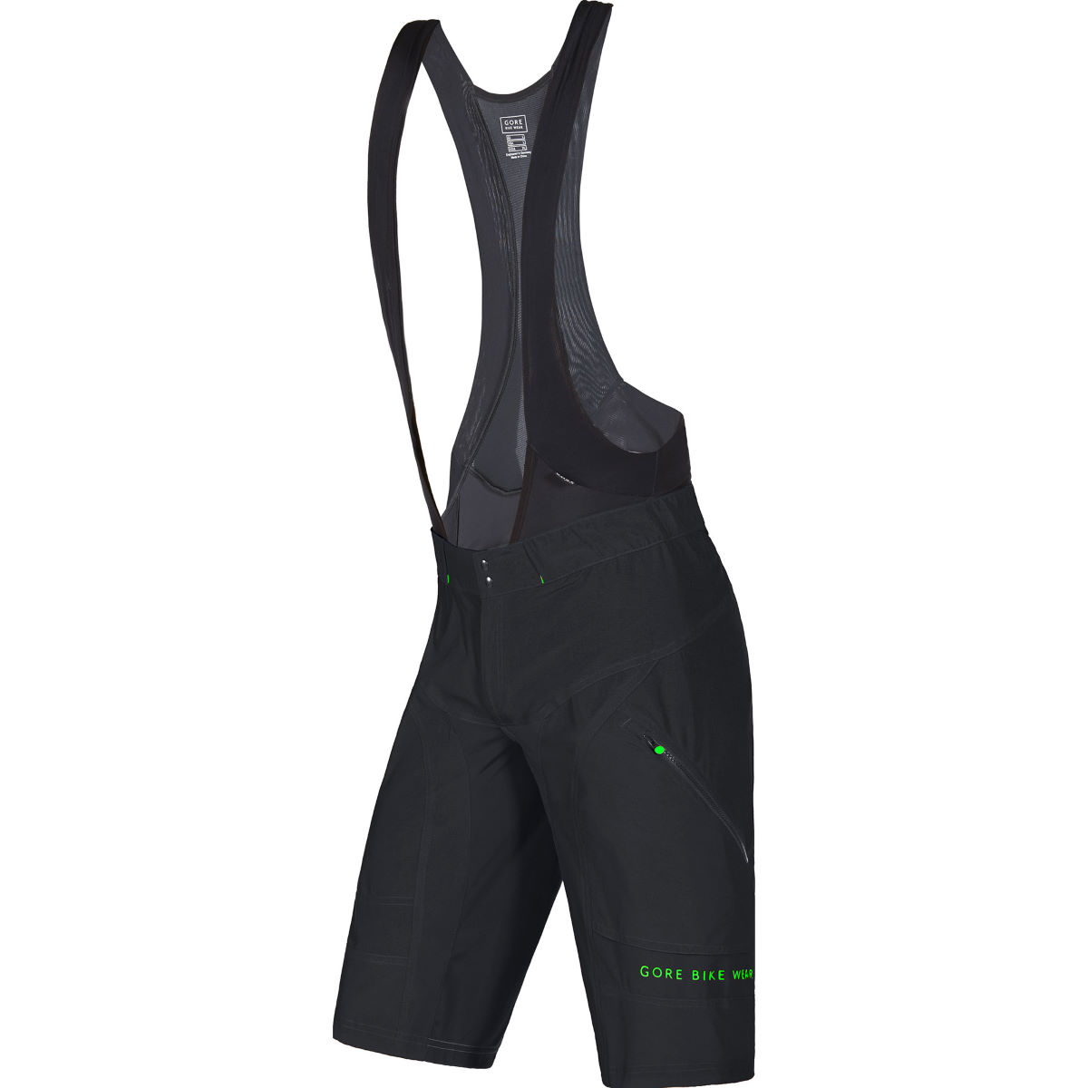 Image of Cuissard court à bretelles Gore Bike Wear Power Trail + (2 en 1) - S