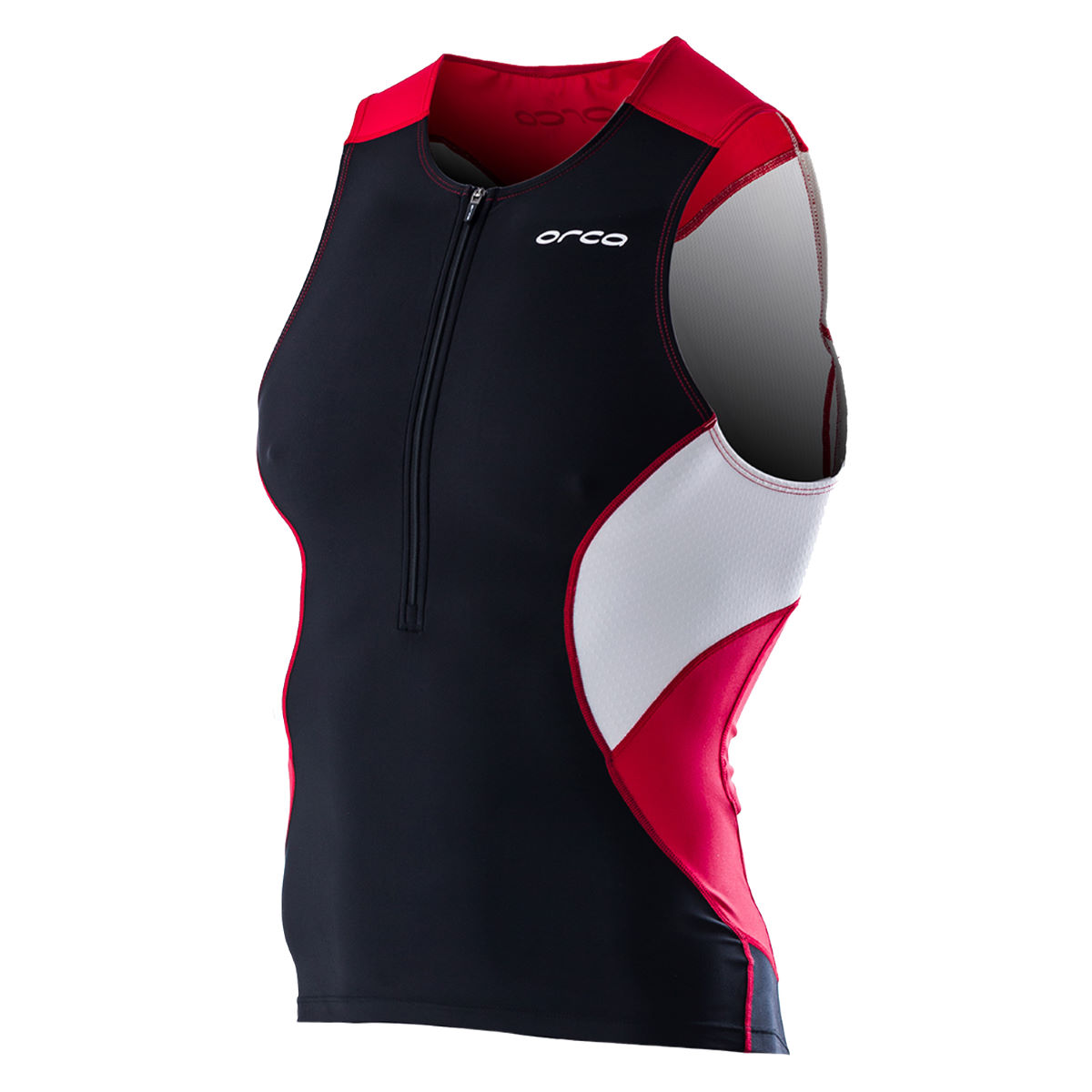 Débardeur de triathlon Orca Core - S Black/Poinsettia