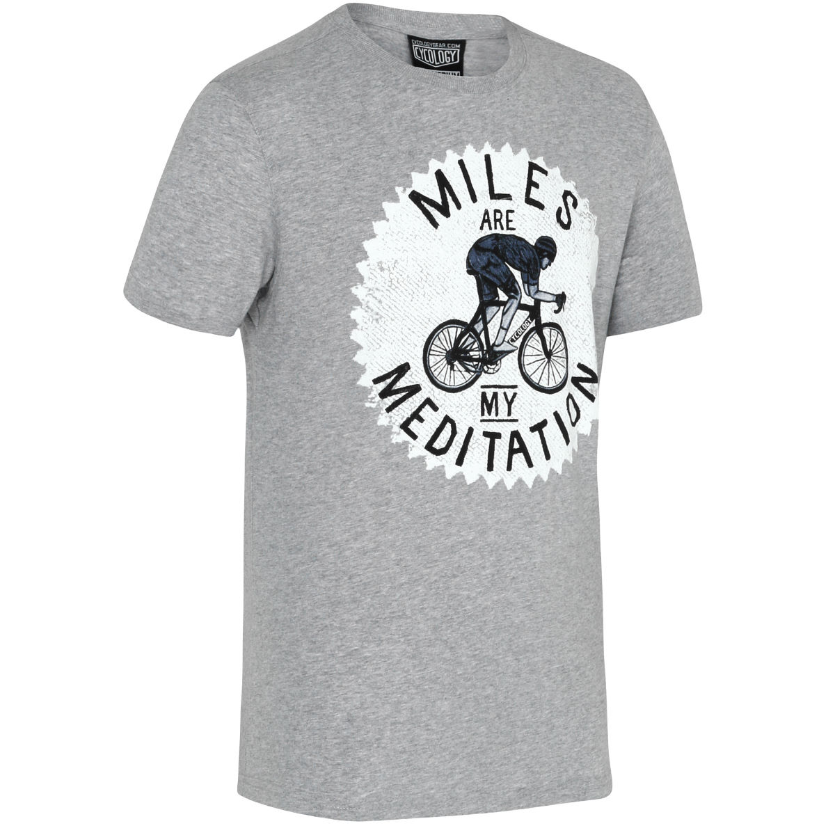 T-shirt Cycology Miles are my Meditation - Small Gris  T-shirts