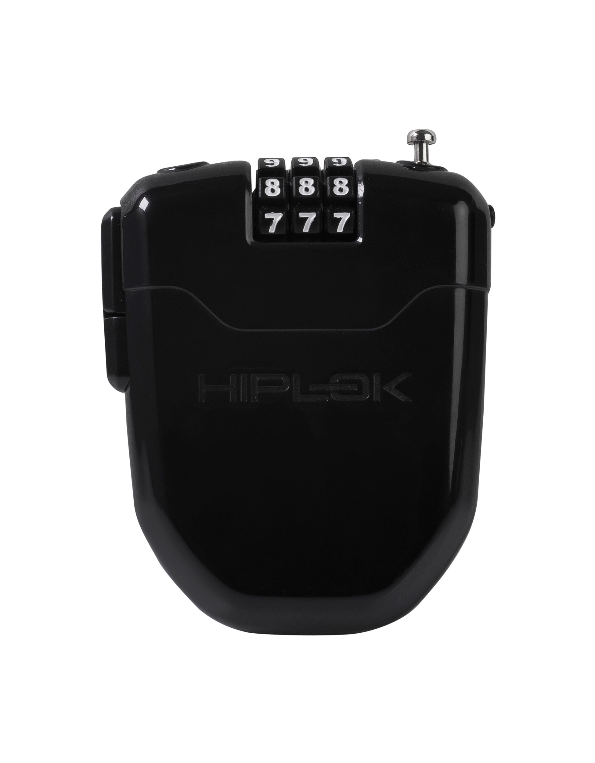 Combination Lock with Integrated Rear Light Black or White HIPLOK FLX