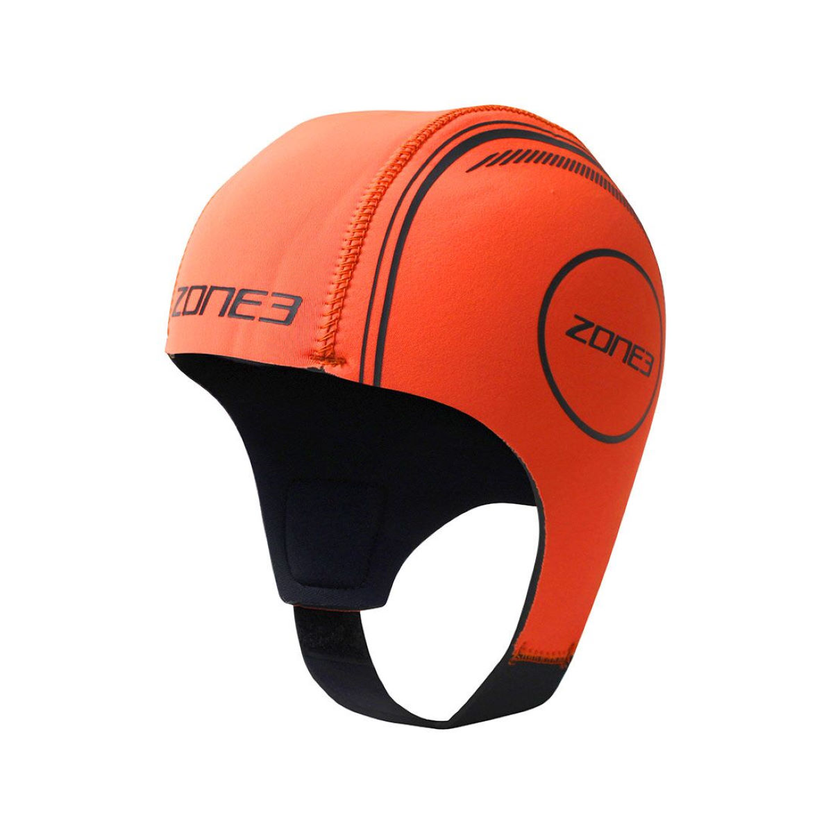 Image of Bonnet de natation Zone3 (néoprène) - Large Hi-Vis Orange