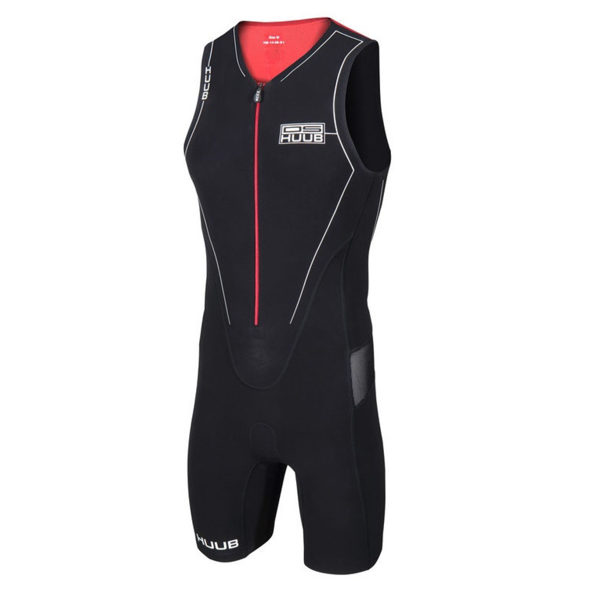 HUUB DS Triathlondräkt - Herr - Medium Black / White / Red
