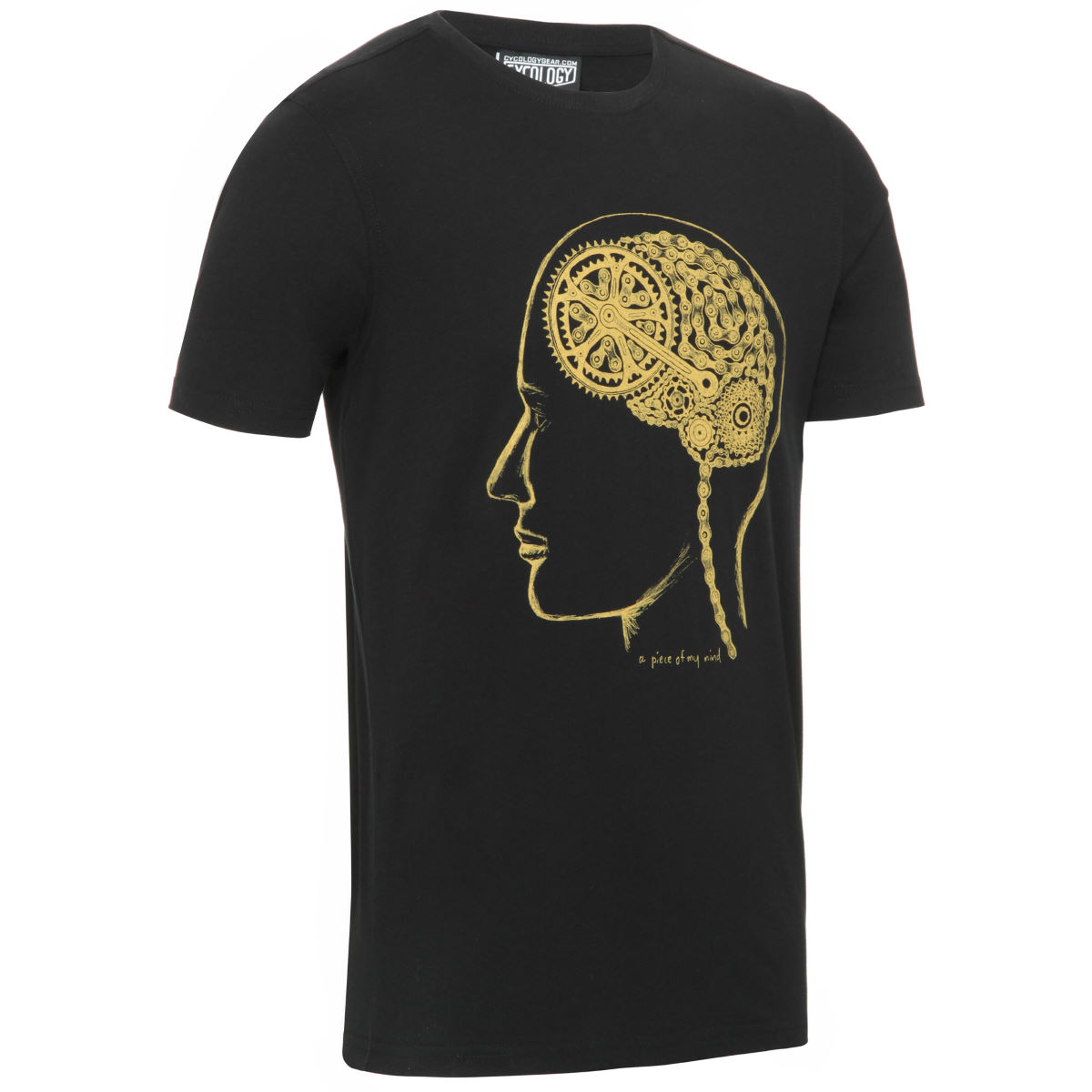 T-shirt Cycology Bike Brain - Extra Large Noir  T-shirts