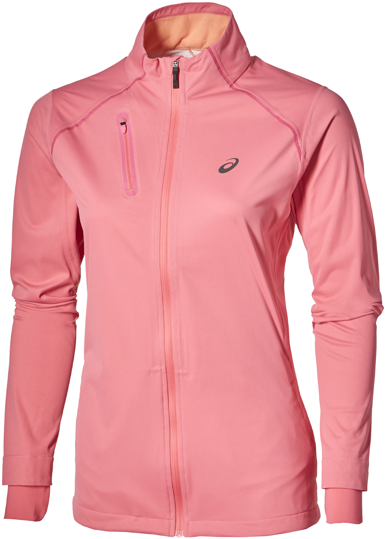 asics running jacket womens Pink