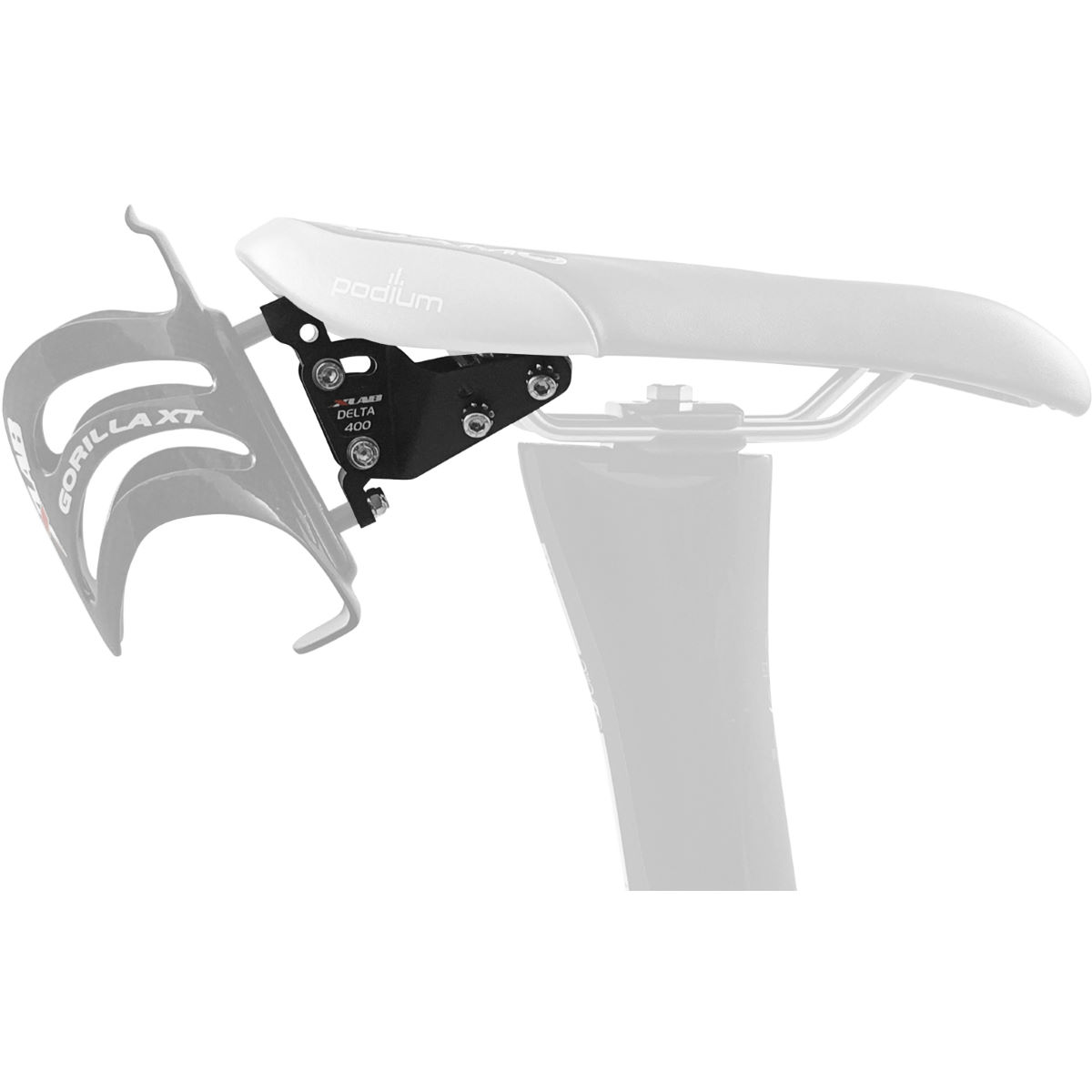 XLAB Delta 400 Saddle Mounted Bottle Cage