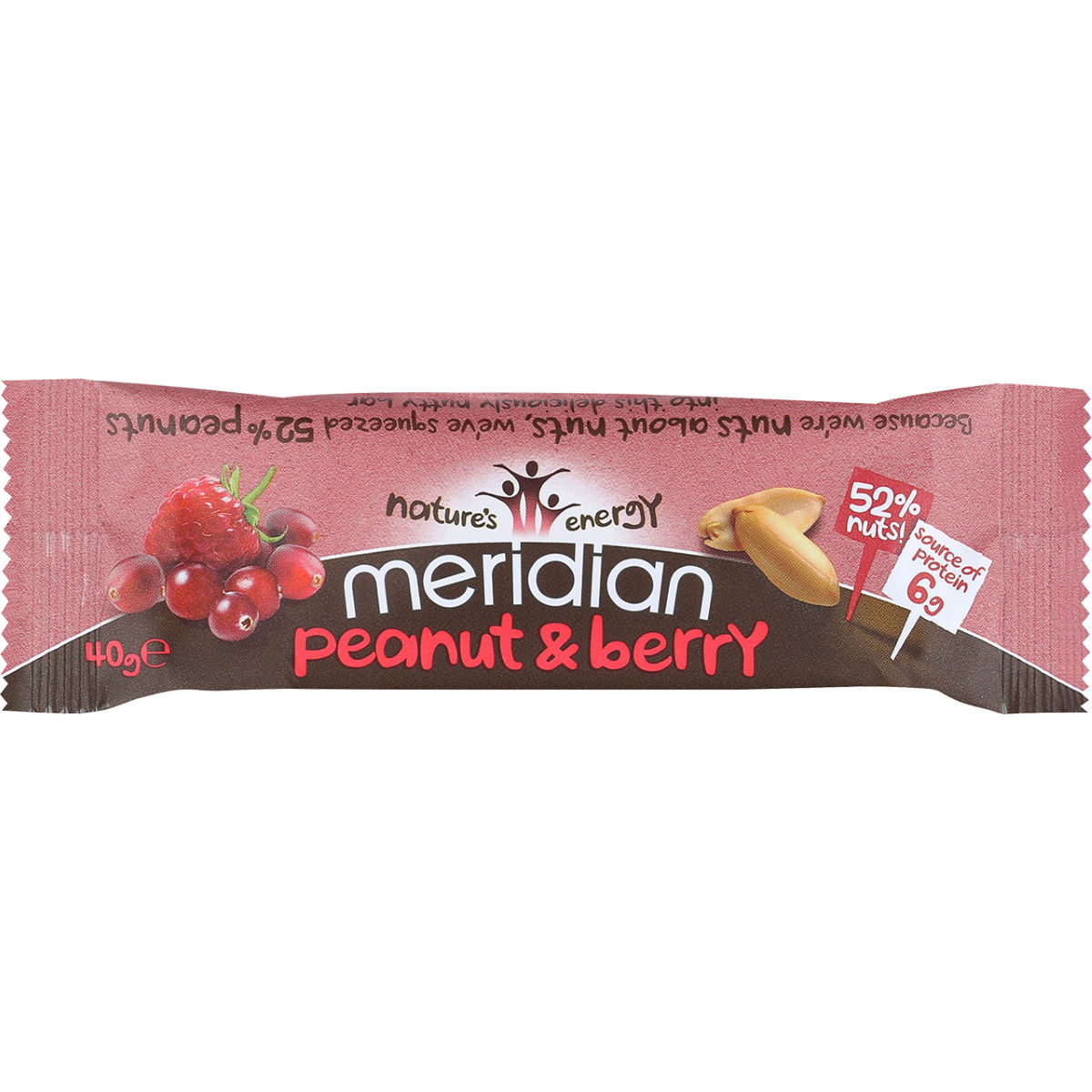 Image of Barre Meridian Cacahuète (18 x 40 g) - 18 x 40g 11-20 Peanut & Berry